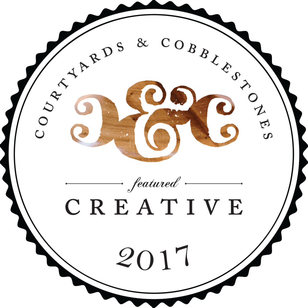 Courtyards & Cobblestones 2017 Vendor Badge